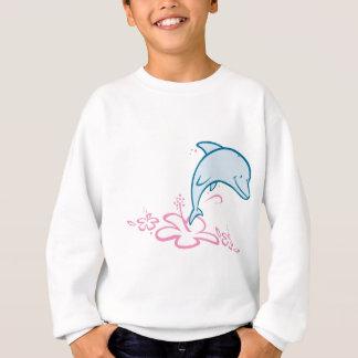 花のイルカ スウェットシャツ