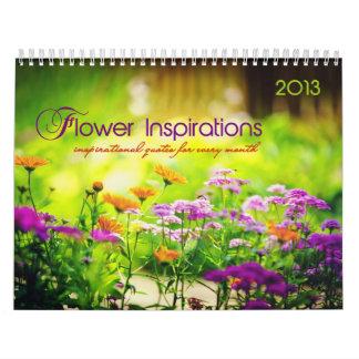 花のインスピレーション。 月例感動的な引用文 カレンダー