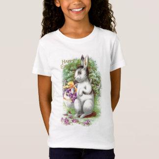 花のイースターのウサギ Tシャツ