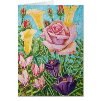 花のイースターカード カード