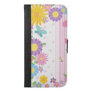 花のウォレットケースのiPhone iPhone 6/6s Plus ウォレットケース