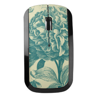 花のエッチング ワイヤレスマウス