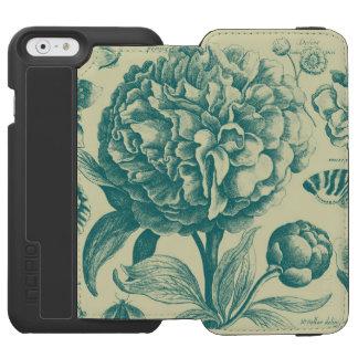花のエッチング INCIPIO WATSON™ iPhone 6 ウォレットケース