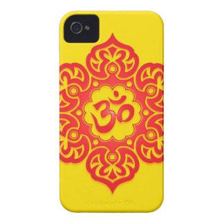 花のオウムのデザイン-赤および黄色 Case-Mate iPhone 4 ケース