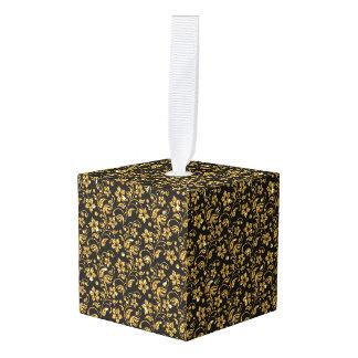 花のカスタムな立方体のオーナメント キューブオーナメント