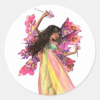 花のカーニバルの妖精 ラウンドシール