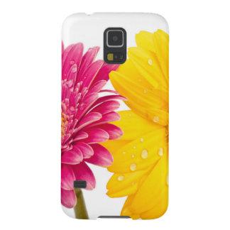 花のガーベラのSamsungの銀河系S5の箱 Galaxy S5 ケース