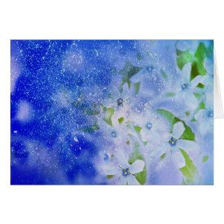 花のクリスマスカード カード