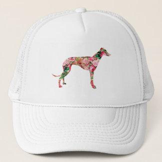花のグレイハウンドの帽子 キャップ