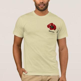 花のケシのワイシャツ Tシャツ