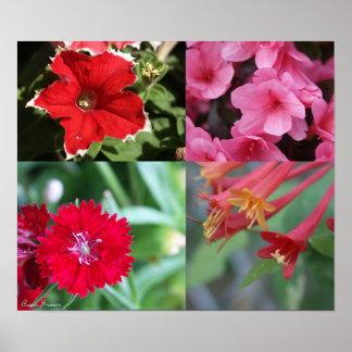 花のコラージュ ポスター
