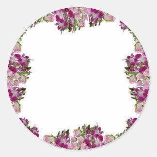 花のコレクションのコラージュ-ロマンス愛n ラウンドシール
