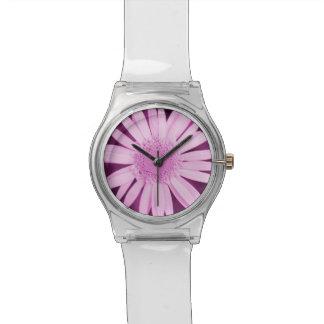 花のコレクション-ピンクはデイジーの腕時計を着色しました 腕時計