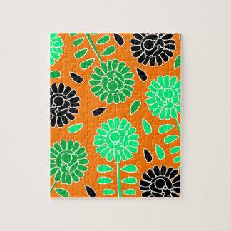 花のコントラストのオレンジ ジグソーパズル