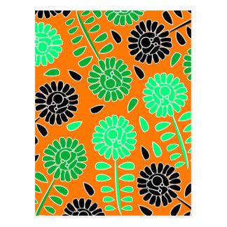 花のコントラストのオレンジ ポストカード