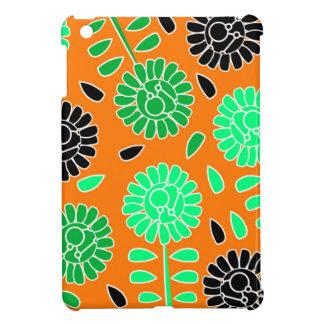 花のコントラストのオレンジ iPad MINIケース