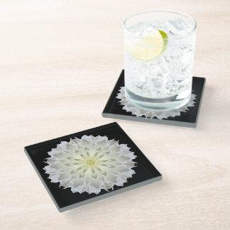花のコースター ガラスコースター