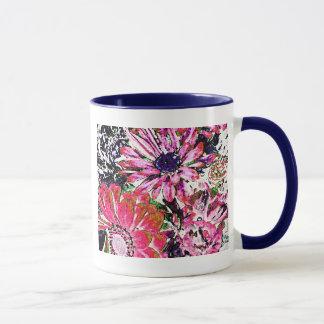 花のコーヒー・マグ マグカップ