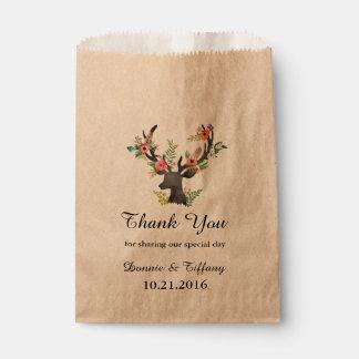 花のシカの結婚式の引き出物のバッグのブライダルシャワー フェイバーバッグ