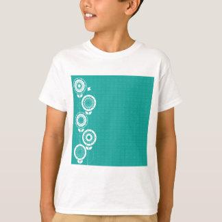 花のシルエット Tシャツ