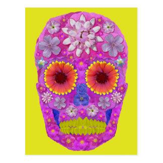 花のスカル2 ポストカード