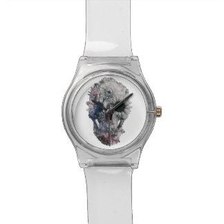 花のスカル2 腕時計