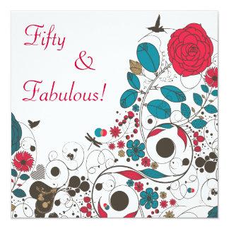 花のスパイスの招待状 カード
