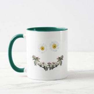 花のスマイル マグカップ