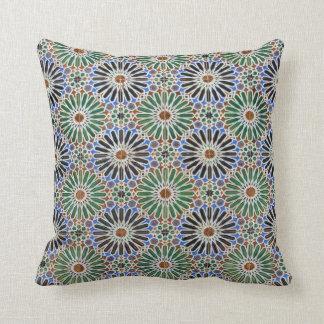 花のタイルパターン装飾用クッション クッション