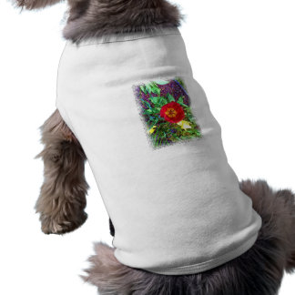花のチューリップのスケッチ ペット服