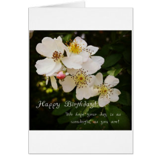 花のテーマのバースデー・カード カード