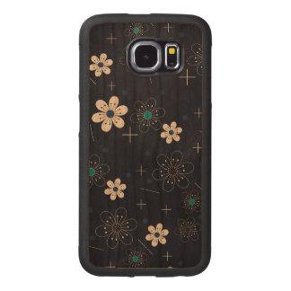 花のデザインの豊富なさくらんぼのSamsungの銀河系S6の箱 ウッドケース