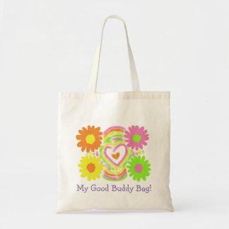 花のデザイン トートバッグ