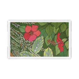 花のトレイ アクリルトレー
