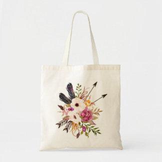 花のトートバック。 Bohoのトートバック トートバッグ