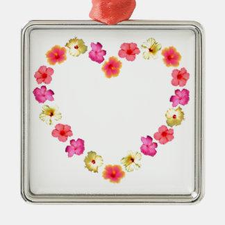 花のハート メタルオーナメント