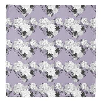 花のハート 掛け布団カバー