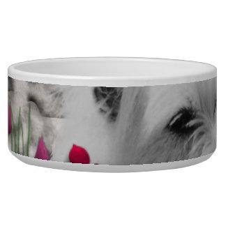 花のバイオレット- Westie白い犬