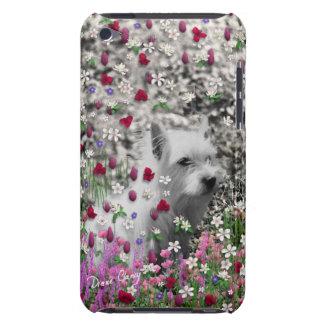 花のバイオレット- Westie白い犬 Case-Mate iPod Touch ケース