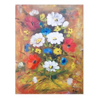 花のバケツ ポストカード