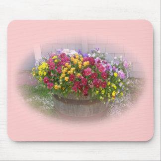 花のバスケット マウスパッド
