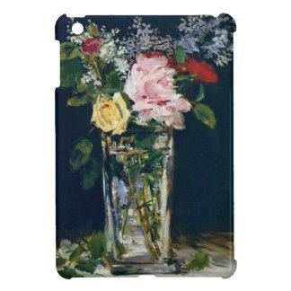 花のバラおよびライラックのファインアートのつぼ iPad MINI CASE