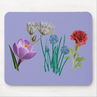 花のバラのアイリス野生の花の春のマウスパッド マウスパッド