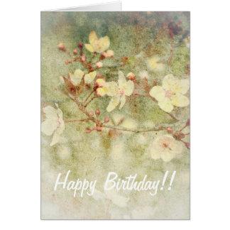 花のバースデー・カード カード