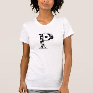 花のパターン(の模様が)あるな手紙P Tシャツ