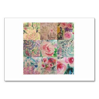 花のパッチワーク カード