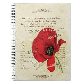花のビクトリアンな言語 ノートブック