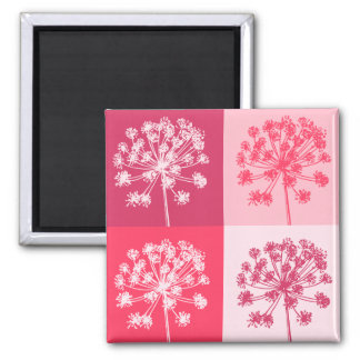 花のピンクのPopart マグネット