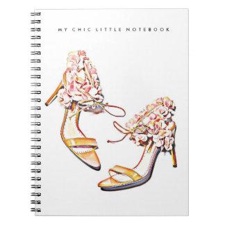 花のファッションのかかとのノート ノートブック