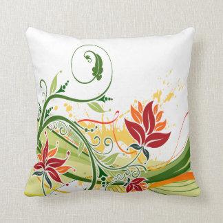 花のファッション1つの枕 クッション